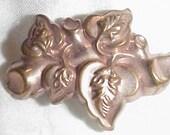 Victorian Gold Pinchbeck ? Brooch Handsome Unisex Art Nouveau Gold Filled Pinchbeck Brooch Pin