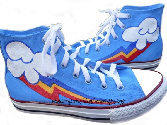 ANY SIZE Any Character Mens Womens Children My Little Pony Cutie Mark Custom Painted Shoes Mix Match Mlp Converse