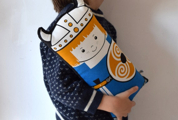 New Viking child boy Scandinavian Retro Rag doll cushion north cotton blue black yellow