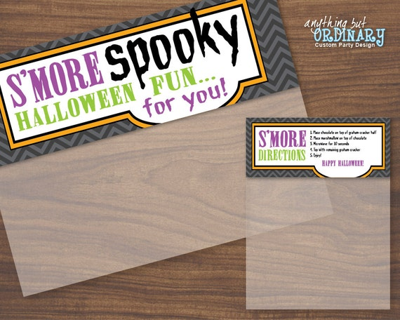 Items similar to Halloween Smore Spooky Bag Toppers ...