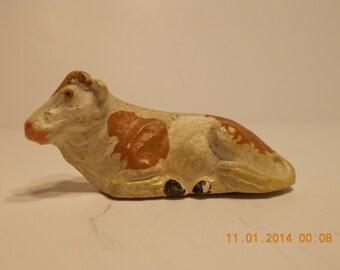 putz nativity scene animal, cow