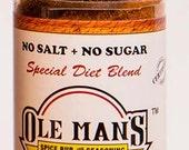 Ole Man's Spice Rub & Seasoning - New! Special Diet Blend NO SALT or SUGAR - 1.6 oz-Free Shipping
