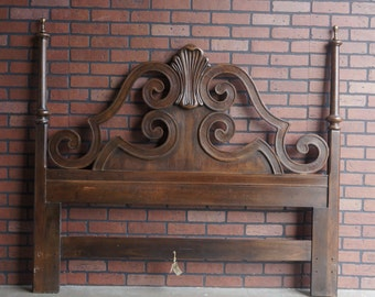 King French Provincial Headboard Tufted Any Fabric Painted