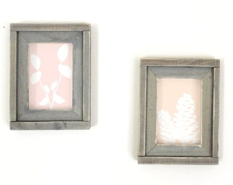 Two 4x6 Wood Picture Frames, Housewarming Gift, Wedding Gift, Farmhouse Decor, Country