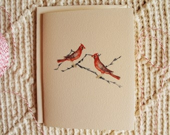 Blank Notecards Red Cardinal Birds10 Folded Cards With Envelopes Personalize for Free