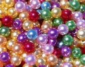 Mixed Lot Bulk DISCOUNT, 500pcs 6mm Pearl Beads, Round Imitation Pearls Girls Bubblegum Beads