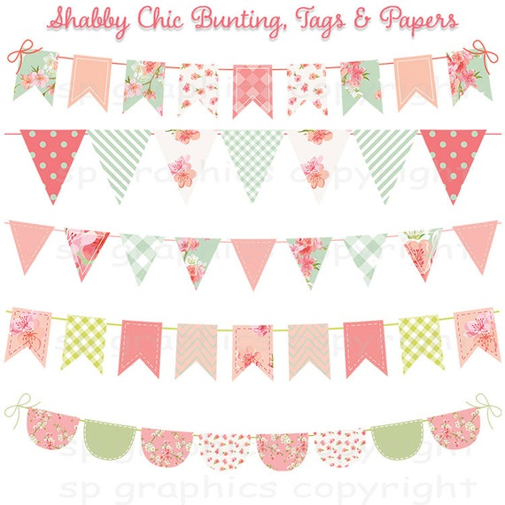 shabby chic bunting - photo #6