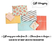 gift wrap your order - choose from 12 designs - gift, present, birthday, anniversary, surprise