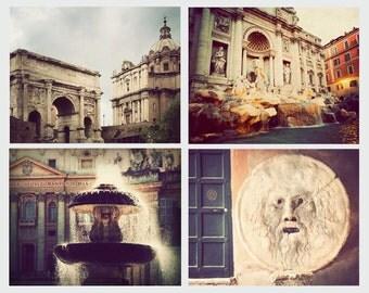 Rome photographs, set of 4, discounted set, Italian art, Rome photography, print set, Italian decor, wall art, Italy artwork