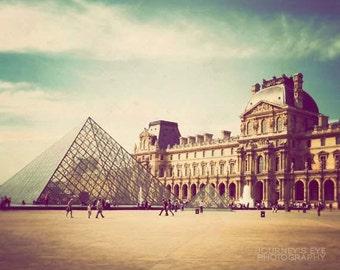 Clearance Sale - The Louvre - Paris photograph, fine art photography, Paris photo print, retro photography, Paris wall art