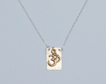 Golden and silver Om necklace