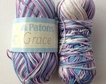 Patons Grace Mercerized Cotton Yarn, Multi Lavender