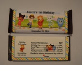 Unique Personalized Daniel Tiger's Neighborhood Birthday Party Favor Hershey's 1.55oz Candy Bar Wrappers