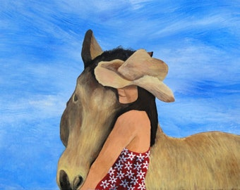 "Horse Art Print - ""Barley & Sierra"""