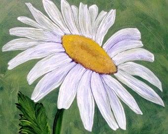 """Daisy Flower Art - """"Miss Daisy"""" - Painting by Lorraine Skala"""