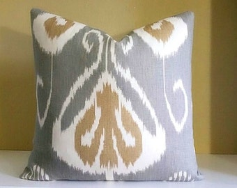 Kravet Bansuri Pillow Slate Color - Decorative Pillow Cover  - Fabric both sides or Solid Back - Pick your size during checkout