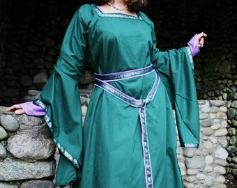 Custom Underdress with Trim, Bell Sleeves, Kirtle, Dress