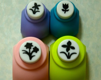 A Set of 4 Paper Punches- Flower Gardens