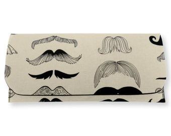 Moustache Print Clutch Bag : Comic book print bag. clutch purse, hand bag.