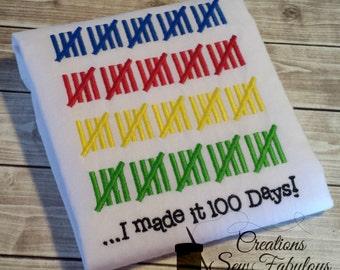 100 Days of School Shirt - 100 Days Smarter - School Shirt - Boys or Girls 100th day of school - I Made It 100 Days - 100 Days Celebration