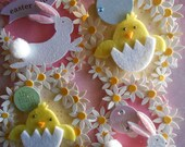EASTER TAGS - 4 Tag Set - Oval Gift Tags for EASTER