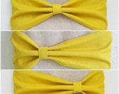 15 % ON SALE 15 Inch Macbook Sleeve, Three Style Movable Bow, Custom for 15'' Laptop - Yellow Custard Bow - Unique Handmade Wood Button