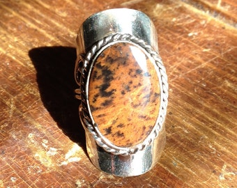 Peruvian Ring Brown Medium Size