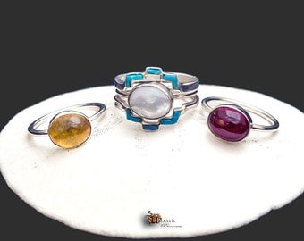 Turquoise Ventana Birthstone Fashion Ring and Jacket Set - Made to order