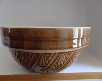USA Brown Crock Pottery Bowl - 8 inches across