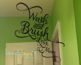 Wash and Brush Vinyl Decal