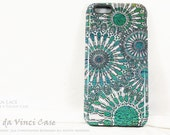 Turquoise iPhone 6 6s Case - Abstract Art Case for iPhone 6 - Ocean Lace - Sea Urchin Inspired iPhone 6s Tough Case by da Vinci Case