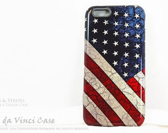 American Flag iPhone 6s Case - US Flag iPhone 6 Case - Stars & Stripes - Red White and Blue iPhone 6 Cover - Dual Layer Protection