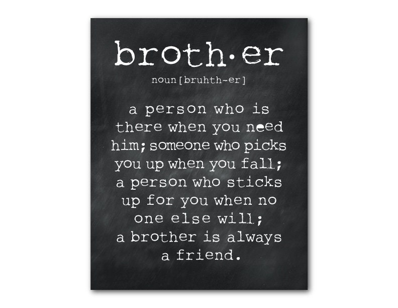boys room wall art a brother is a person quote