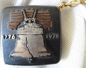 1976 US Bicentennial Tape Measure and Key Chain with Liberty Bell