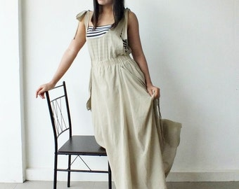 Happy...Cream  Maxi Dress Cotton  @@