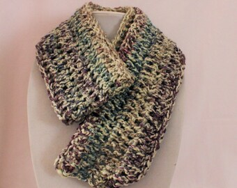 Scarf multi-color gray, purple, blue, a soft light mixture and warm scarf, FREE SHIPPING beautiful scarf