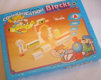 Vintage Set of Communication Building Blocks