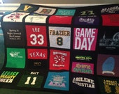 T Shirt Quilt 30 Block Memory Quilt Custom Order Quilt - Using Your Shirts-DEPOSIT ONLY