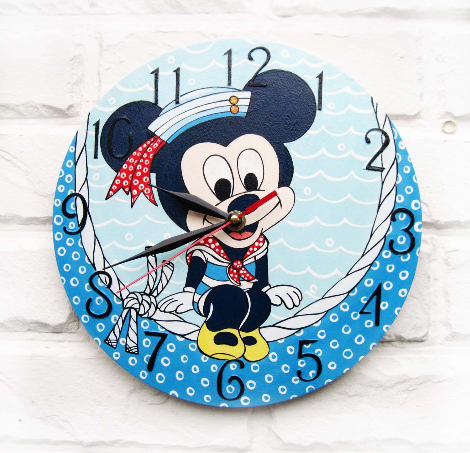 The mickey mouse wall clock home decor for children by for Mickey mouse home decorations
