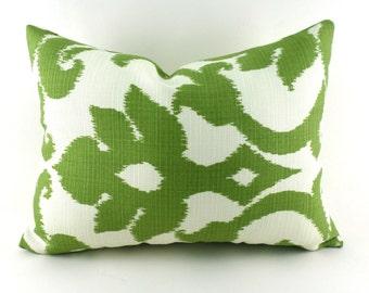 Outdoor Lumbar Pillow Decorative Pillow Cover Kiwi Green Pillow Richloom Outdoor Basalto Kiwi Green