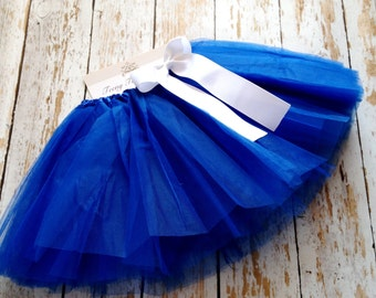 Royal Blue TuTu, Baby TuTu with matching bow, Toddler Tu Tu, Ballerina Tu Tu, Baby Tu Tus, Tutus, Baby Tutus