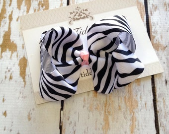 Zebra Print Boutique Hairbow - Boutique Hairbow - Hairbow