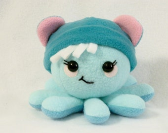 Stuffed animal octopus bear hat plush toy