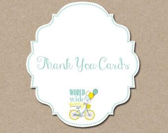 Thank you Cards -  A la carte - printable party