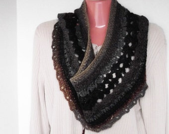 Luxurious Silk, Kid Mohair & Lamb's Wool Cowl Infinity Scarf