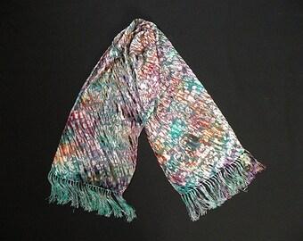 Burned Velvet Shiboried Silk Scarf