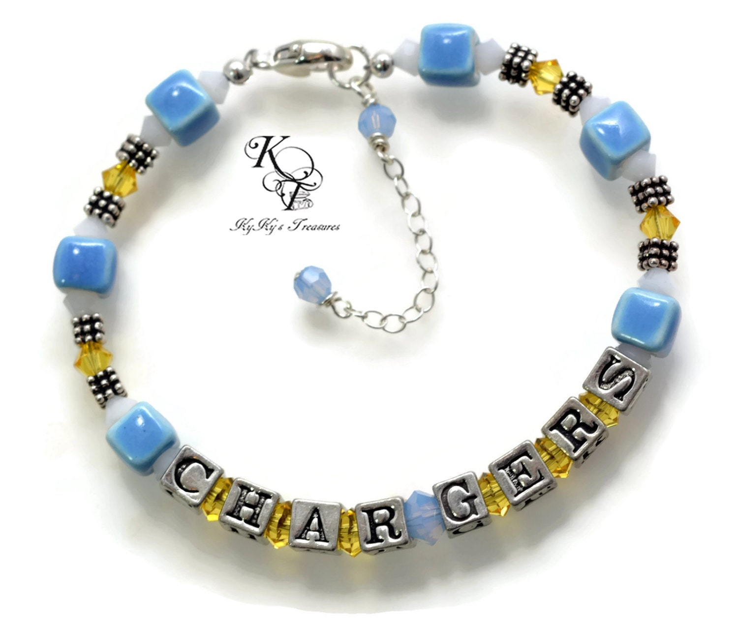 San diego chargers bracelet chargers jewelry by for Jewelry making classes san diego