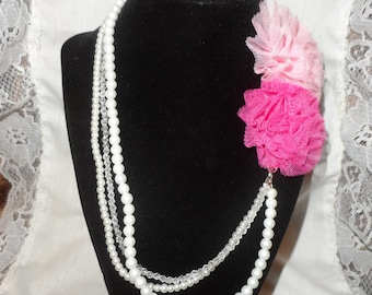 3 Strand Pear Necklace