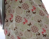 Car Seat Canopy - Butterflies, Swirls and Circles