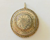 Vintage Large Sterling Locket Mad Men Style